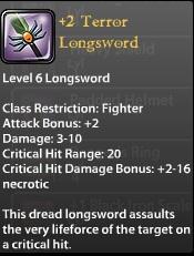2 Terror Longsword