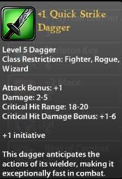 1 Quick Strike Dagger