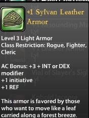 1 Sylvan Leather Armor