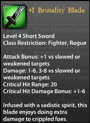 1 Brutality Blade