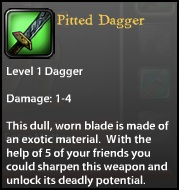 Pitted Dagger