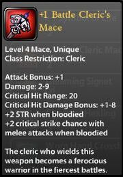 1 Battle Cleric's Mace New