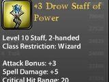 +3 Drow Staff of Power