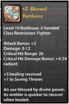 +2 Blessed Battleaxe