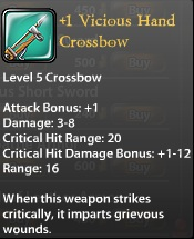 1 Vicious Hand Crossbow
