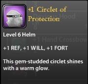 1 Circlet of Protection