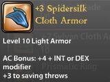 +3 Spidersilk Cloth Armor