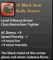 1 Black Iron Scale Armor