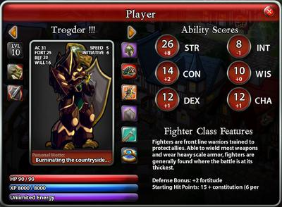 Trogdor PlayerScreen2