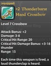 2 Thunderburst Hand Crossbow