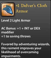 1 Delver's Cloth Armor