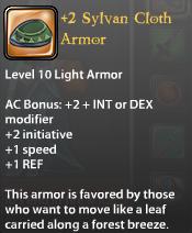 2 Sylvan Cloth Armor