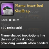 Flame-inscribed Skullcap