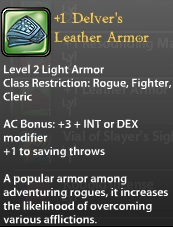 1 Delver's Leather Armor