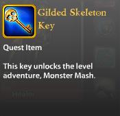 Gilded Skeleton Key