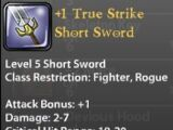 +1 True Strike Short Sword