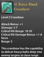 1 Force Hand Crossbow