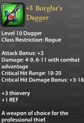 3 Burglars Dagger