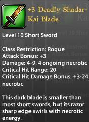 3 Deadly Shadar Kai Blade