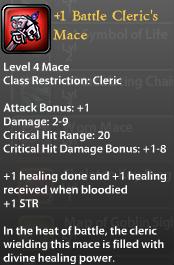 1 Battle Cleric's Mace