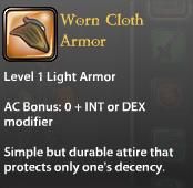 Worn Cloth Armor