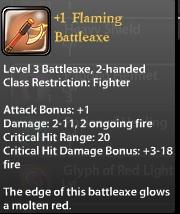 1 Flaming Battleaxe