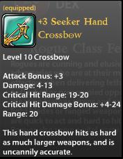 3 Seeker Hand Crossbow