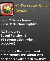 1 Dwarven Scale Armor