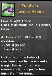 1 Deathcut Leather Armor