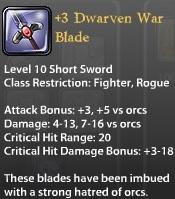 3 Dwarven War Blade