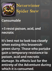 Neverwinter Spider Stew