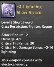 2 Lightning Short Sword