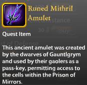 Runed Mithril Amulet