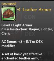 1 Leather Armor