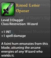 Runed Letter Opener