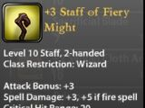 +3 Staff of Fiery Might