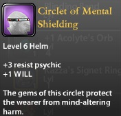 Circlet of Mental Shielding