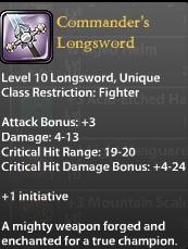 Commander's Longsword