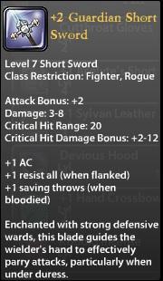 2 Guardian Short Sword