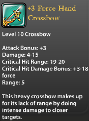 3 Force Hand Crossbow
