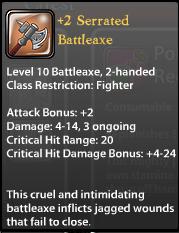 2 Serrated Battleaxe