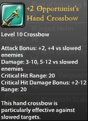 3 Opportunist's Hand Crossbow