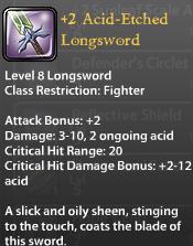 2 Acid-Etched Longsword
