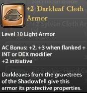 2 Darkleaf Cloth Armor