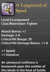 1 Longsword of Speed