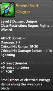 Stormcloud Dagger