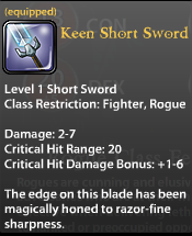 Keen Short Sword
