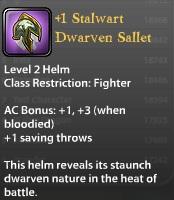 1 Stalwart Dwarven Sallet