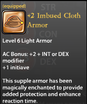 2 Imbued Cloth Armor