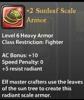 2 Sunleaf Scale Armor